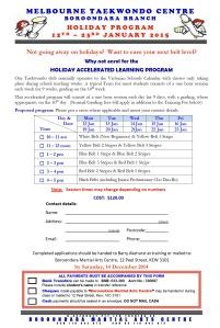 Holiday Program_Dec 2014